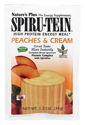 Nature's Plus - Spiru-Tein High Protein Energy Meal Peaches & Cream - 1 Packet