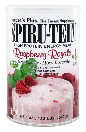Nature's Plus - Spiru-Tein High Protein Energy Meal Raspberry Royale - 1.12 lbs.