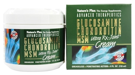 Nature's Plus - Glucosamine Chondroitin MSM Ultra Rx-Joint Cream - 4 oz.
