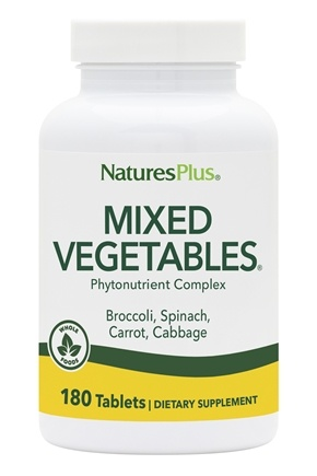 Nature's Plus - Mixed Vegetables - 180 Tablets