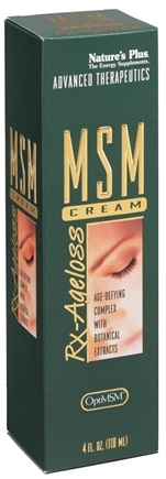 DROPPED: Nature's Plus - MSM Rx Ageloss Cream - 4 oz. CLEARANCE PRICED
