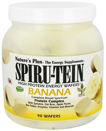 DROPPED: Nature's Plus - Spiru-Tein High Protein Energy Wafers Banana - 90 Wafers CLEARANCE PRICED