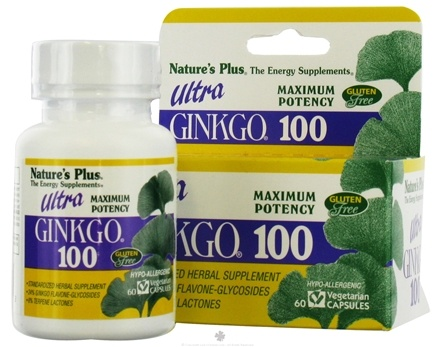 DROPPED: Nature's Plus - Ultra Ginkgo 100 - 60 Capsules
