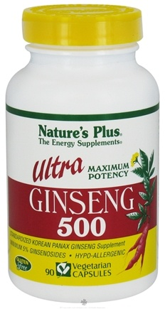 DROPPED: Nature's Plus - Ultra Ginseng 500 mg. - 90 Vegetarian Capsules