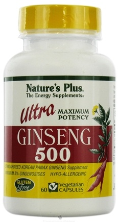 DROPPED: Nature's Plus - Ultra Ginseng 500 mg. - 60 Vegetarian Capsules