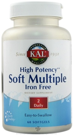 DROPPED: Kal - High Potency Soft Multiple Iron Free - 60 Softgels