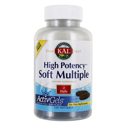 Kal - Soft Multiple High Potency Iron Free - 120 Softgels