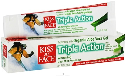 DROPPED: Kiss My Face - Toothpaste Triple Action Certified Natural Aloe Vera - 3.4 oz. CLEARANCE PRICED