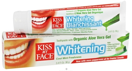 DROPPED: Kiss My Face - Toothpaste Whitening Natural Aloe Vera - 3.4 oz. CLEARANCE PRICED