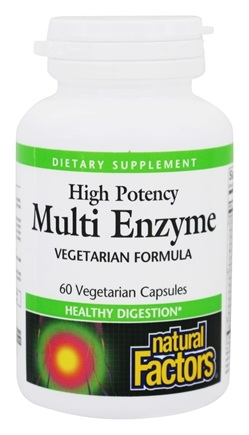 DROPPED: Natural Factors - Dr. Murray's Multi Enzyme High Potency Vegetarian Formula - 60 Capsules CLEARANCE PRICED