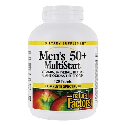 Natural Factors - Dr. Murray's Men's 50+ MultiStart - 120 Tablets