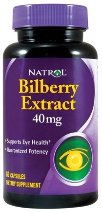 DROPPED: Natrol - Bilberry 40 mg. - 60 Capsules CLEARANCE PRICED