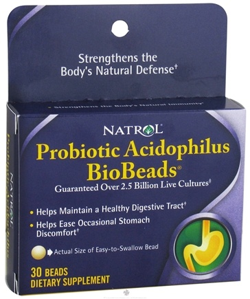 DROPPED: Natrol - Biobeads Probiotic Acidophilus - 30 Bead(s) CLEARANCE PRICED