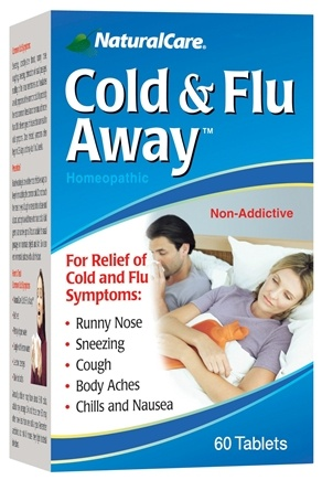 DROPPED: NaturalCare - Cold & Flu Away - 60 Capsules CLEARANCE PRICED