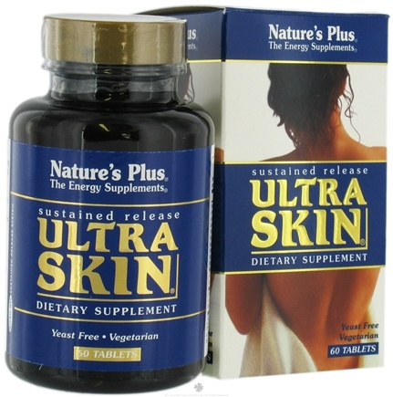 DROPPED: Nature's Plus - Ultra Skin Sustained Release - 60 Tablets CLEARANCE PRICED