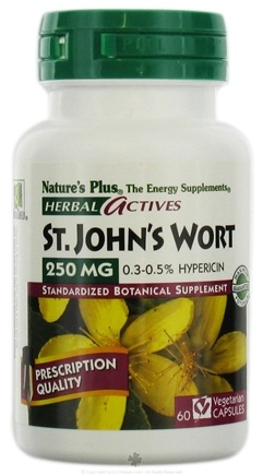 DROPPED: Nature's Plus - Herbal Actives Saint John's Wort 250 mg. - 60 Vegetarian Capsules CLEARANCE PRICED