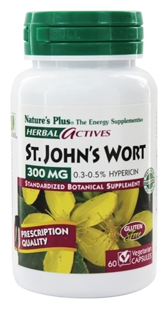 DROPPED: Nature's Plus - Herbal Actives Saint John's Wort 300 mg. - 60 Vegetarian Capsules