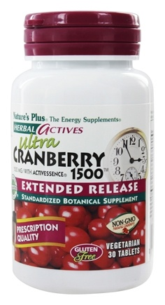Nature's Plus - Herbal Actives Extended Release Ultra Cranberry 1500 mg. - 30 Tablets