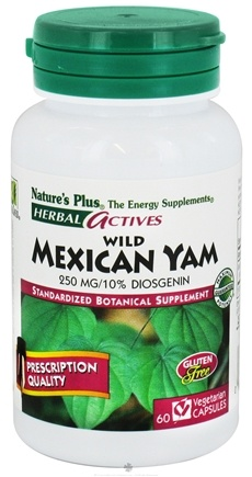 DROPPED: Nature's Plus - Herbal Actives Wild Mexican Yam 250 mg. - 60 Vegetarian Capsules CLEARANCED PRICED