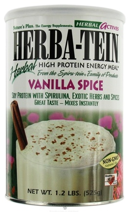 DROPPED: Nature's Plus - Herba-tein Vanilla Spice - 1.2 lbs.