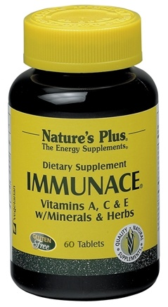 DROPPED: Nature's Plus - ImmunACE Vitamins A C E with Minerals & Herbs - 60 Tablets