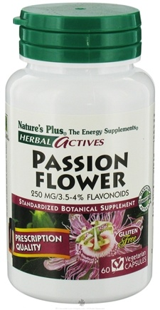 DROPPED: Nature's Plus - Herbal Actives Passion Flower 250 mg. - 60 Vegetarian Capsules CLEARANCE PRICED