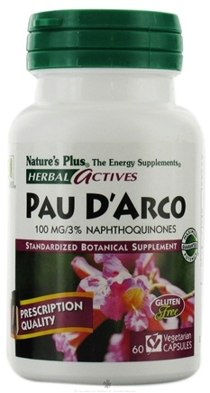DROPPED: Nature's Plus - Herbal Actives Pau D'Arco 100 mg. - 60 Vegetarian Capsules