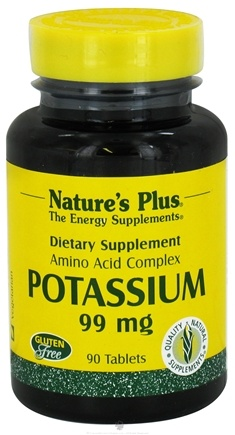 DROPPED: Nature's Plus - Potassium 99 mg. - 90 Tablets CLEARANCE PRICED