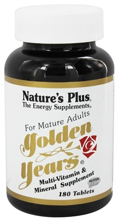DROPPED: Nature's Plus - Golden Years Multi Vitamin & Mineral Supplement - 180 Tablets