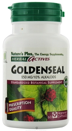 DROPPED: Nature's Plus - Herbal Actives Goldenseal 250 mg. - 60 Vegetarian Capsules
