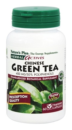 Nature's Plus - Herbal Actives Chinese Green Tea 400 mg. - 60 Vegetarian Capsules