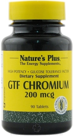 DROPPED: Nature's Plus - GTF Chromium 200 mcg. - 90 Tablets