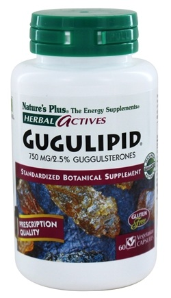Nature's Plus - Herbal Actives Gugulipid 750 mg. - 60 Vegetarian Capsules