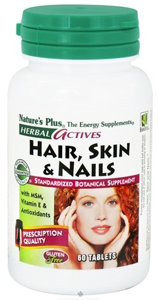 Nature's Plus - Herbal Actives Hair Skin & Nails - 60 Tablets