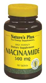 DROPPED: Nature's Plus - Niacinamide 500 mg. - 90 Tablets