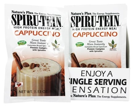 Nature's Plus - Spiru-Tein High Protein Energy Meal Cappuccino - 1 Packet