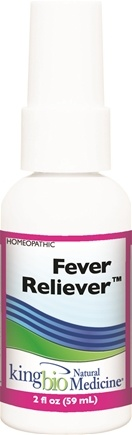 DROPPED: King Bio - Homeopathic Natural Medicine Fever Reliever - 2 oz. CLEARANCE PRICED