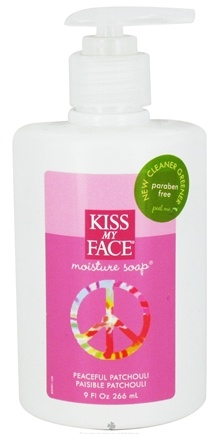DROPPED: Kiss My Face - Liquid Moisture Soap Peaceful Patchouli With Hemp Seed Oil - 9 oz.