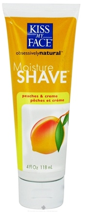 DROPPED: Kiss My Face - Moisture Shave Peaches & Creme - 4 oz.