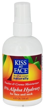 DROPPED: Kiss My Face - Moisturizer For Face And Neck Peaches & Creme - 4 oz. CLEARANCE PRICED