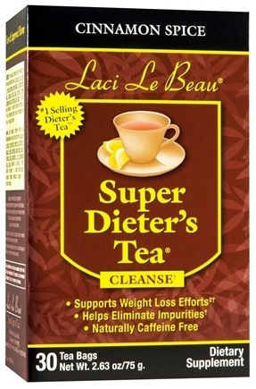 DROPPED: Laci Le Beau - Super Dieter's Tea Cinnamon Spice Caffeine Free - 30 Tea Bags CLEARANCE PRICED