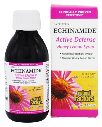 DROPPED: Natural Factors - Echinamide Active Defense Syrup Honey Lemon - 5 oz.
