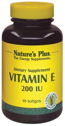 DROPPED: Nature's Plus - Vitamin E 200 IU - 90 Softgels CLEARANCE PRICED