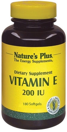 DROPPED: Nature's Plus - Vitamin E 200 IU - 180 Softgels CLEARANCE PRICED