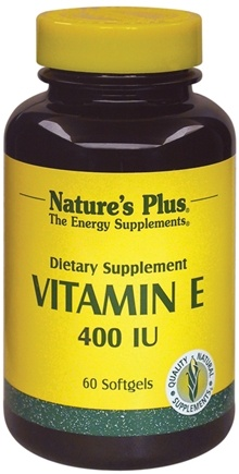 DROPPED: Nature's Plus - Vitamin E 400 IU - 60 Softgels