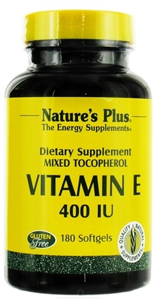 DROPPED: Nature's Plus - Vitamin E Mixed Tocopherol 400 IU - 180 Softgels CLEARANCE PRICED