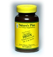 DROPPED: Nature's Plus - Iron 40 mg. - 90 Tablets