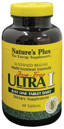 DROPPED: Nature's Plus - Ultra I Multi Nutrient Supplement Iron-Free Sustained Release - 60 Tablets CLEARANCE PRICED