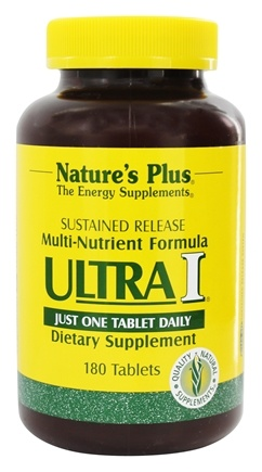 Nature's Plus - Ultra I Multi Nutrient Supplement Sustained Release - 180 Tablets