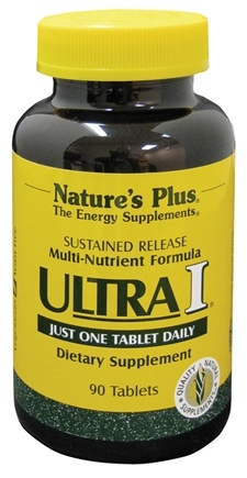 DROPPED: Nature's Plus - Ultra I Multi Nutrient Supplement Sustained Release - 90 Tablets CLEARANCE PRICED